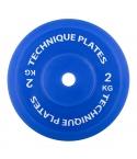 Teknikvikt i plast 2kg , ihålig. 45cm diameter, 80mm tjocklek