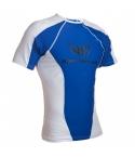 Straight Blast Gym Rash Guard Short Sleave White/Blue