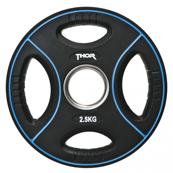 Thor Fitness Svarta PU Viktskivor Med Handtag - 50mm