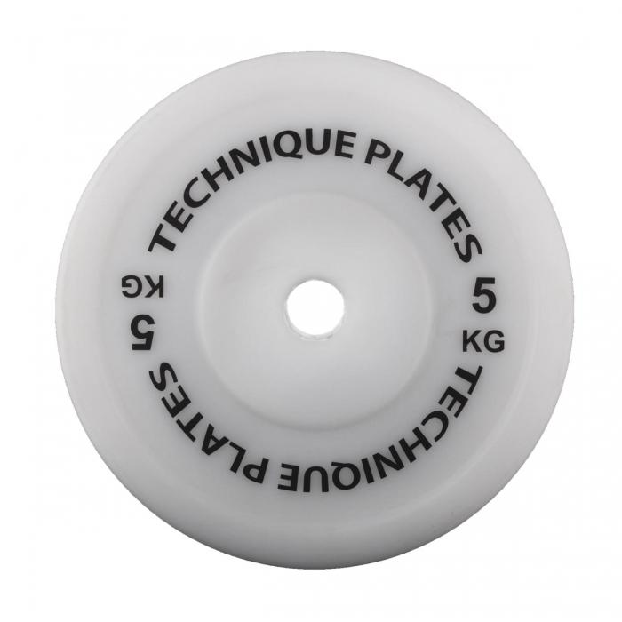 Teknikvikt i plast 5kg , ihålig. 45cm diameter, 100mm tjocklek