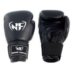 NF Professional Thai Style Boxing Gloves Artificial Leather - Black