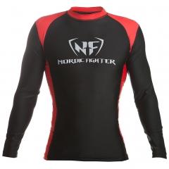 NF Rash Guard Long Sleave Red/Black