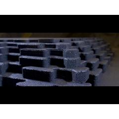 Svart med vita stänk i, 10mm tjockt gummigolv 1 x 1m - VARUPROV