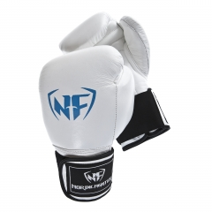 NF Professional Thai Style Boxing Gloves - White