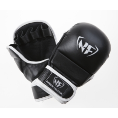 NF MMA/Shooto Training Gloves Pro Black - Artificial Leather