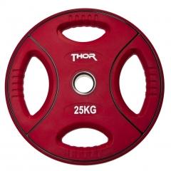 Thor Fitness Färgade PU Viktskivor Med Handtag - 50mm