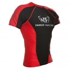 NF Rash Guard Short Sleave Black/Red