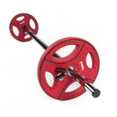 Pumpset - 2st 1,25kg, 2st 2,5kg, 2st 5kg, 1st 30mm skivstång, 1 par lås