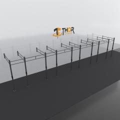 Thor Fitness Väggmonterad Rigg 9 Sektioner