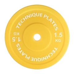 Teknikvikt i plast 1,5kg , ihålig. 45cm diameter, 72mm tjocklek