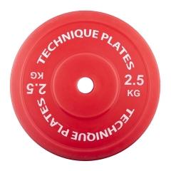 Teknikvikt i plast 2,5kg , ihålig. 45cm diameter, 82mm tjocklek