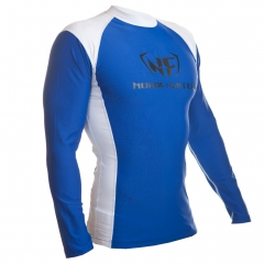 NF Rash Guard Long Sleave White/Blue
