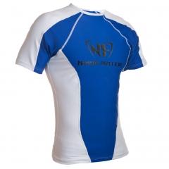 NF Rash Guard Short Sleave White/Blue