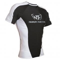 NF Rash Guard Short Sleave White/Black
