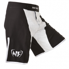 NF MMA Shorts Black and White - Slim fit