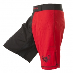 NF MMA Shorts Black-Red