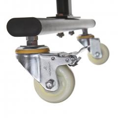 Medicine ball rack with wheels and brake