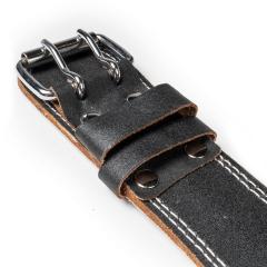 Tyngdlyftarbälte I Rejält Läder svart
