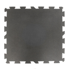 Svart 15-40mm Gummigolv 1 x 1m, Pussel