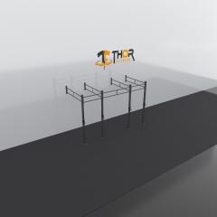 Thor Fitness Väggmonterad Rigg 3 Sektioner