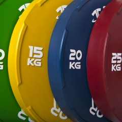 Thor Färgade Tävlingsbumpers 140kg-paket med skivstång