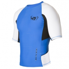 NF Rash Guard Medium-Sleave Blue, black and white