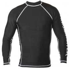 NF Rash Guard Long Sleave Black with logo on arm