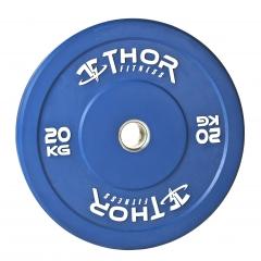 Thor Fitness Färgade Bumper Viktskivor Helt i Gummi 50mm