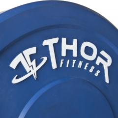 Thor Fitness Färgade Bumper Paket 150kg med skivstång