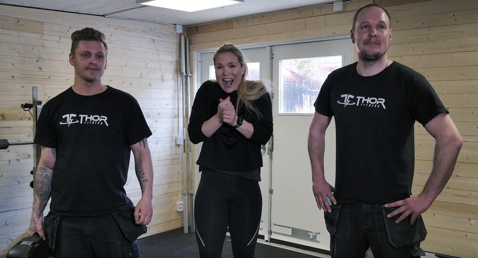 Vi bygger Anja Pärsons hemmagym